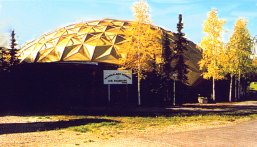 Pioneer Air Museum Gold Dome at Alaskaland